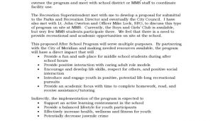 Dance Program Proposal Template Program Proposal for after School Program Free Download