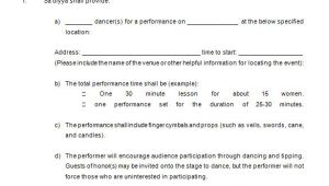 Dancer Contract Template 15 Performance Contract Templates Word Pdf Google