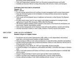 Data Engineer Resume Information Security Engineer Resume Samples Velvet Jobs