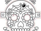 Day Of the Dead Skull Mask Template 26 Best Images About Fargelegging On Pinterest