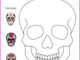 Day Of the Dead Skull Mask Template Bilingual Dia De Los Muertos Day Of the Dead Printable