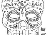 Day Of the Dead Skull Mask Template Day Of the Dead Skull Coloring Pages Bestofcoloring Com