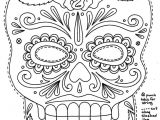 Day Of the Dead Skull Mask Template Day Of the Dead Skull Coloring Pages Coloring Home
