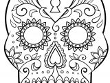 Day Of the Dead Skull Mask Template Day Of the Dead Sugar Skull Coloring Page Free Printable