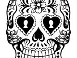 Day Of the Dead Skull Mask Template Free Printable Day Of the Dead Coloring Pages Best