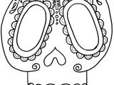 Day Of the Dead Skull Mask Template Sugar Skull Coloring Page Az Coloring Pages