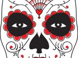 Day Of the Dead Skull Mask Template Surface Fragments How to Make A Day Of the Dead Mask