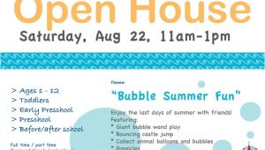 Daycare Open House Flyer Template Advertising Idea for Daycare Daycare Ideas Family