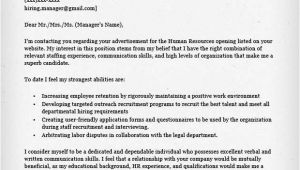Dear Human Resources Department Cover Letter Human Resources Cover Letter Sample Resume Genius
