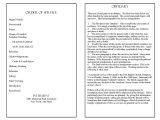 Death Program Templates Funeral Program Template Blog Archives Funeralprogram