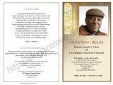 Death Program Templates Obituary Program Sample Obituary Template Memorial
