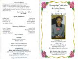 Death Program Templates Sample Obituary Wording Pictures to Pin On Pinterest