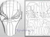 Deathstroke Armor Template the Gallery for Gt Deathstroke Mask Pepakura