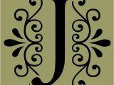 Decorative Lettering Templates Stencil Decorative Letter J 10×9