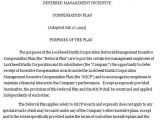 Deferred Payment Contract Template Deferred Management Incentive Agreement Sample Deferred