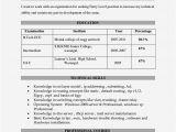 Degree Fresher Resume format Degree Resume for Freshers Resume Template Cover Letter