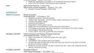 Dental assistant Student Resume Objective Dental assistant Objectives Resume Objective Livecareer