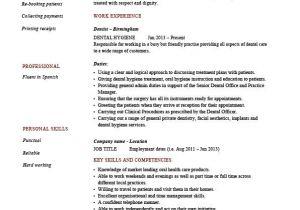 Dental Hygiene Resume Sample Dental Hygiene Resume Hygienist Template Example Job
