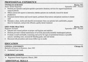Dental Hygiene Resume Sample Resume format Resume Examples Dental Hygienist