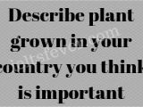 Describe A Flower In Your Country Cue Card Describe Plant Grown In Your Country You Think is Important