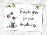 Design A Thank You Card Printable Thank You Card Panda Girl Thank You for Your