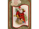 Design Your Own Christmas Card I M Checking My List Vintage Christmas Card Zazzle Com