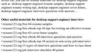 Desktop Support Engineer Resume format Doc top 8 Desktop Support Engineer Resume Samples