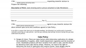 Dessert Table Contract Template Wedding Cake Contract Pdf Being Creative Cake Wedding