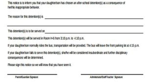 Detention Notice Template 8 Detention Notice Templates Free Sample Example format