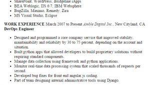 Devops Engineer Resume Professional Devops Engineer Templates to Showcase Your