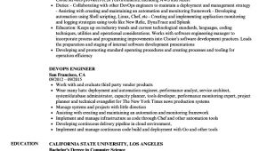 Devops Engineer Resume Sample Devops Engineer Resume Samples Velvet Jobs