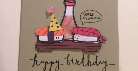 Diet Teachers Day Card Handmade Sushi Birthday Diy Card Geburtstagskarte Diy Gutschein