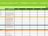 Digital Content Calendar Template Marketing Calendar Excel Calendar Template Excel