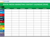 Digital Content Calendar Template social Media Calender Template Excel 2014 Editorial