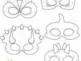 Dinosaur Mask Template Free Dinosaurs Printable Coloring Masks