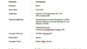 Diploma In Civil Engineering Resume Sample 37 Engineering Resume Examples Free Premium Templates