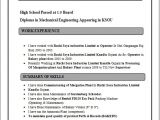 Diploma Mechanical Engineering Resume Samples Resume Blog Co Resume Sample Of Diploma In Mechanical