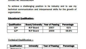 Diploma Student Resume format Pdf 51 Resume format Samples