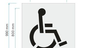 Disabled Parking Template Disabled Parking Stencil 800mm High