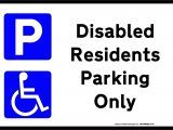 Disabled Parking Template Printable Disabled Parking Sign Free Template for