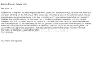 Discount Email Template Discount Request Letter Template