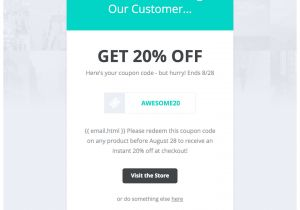 Discount Offer Email Template Drip Email Templates Easy to Import Drip Email Templates