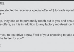 Discount Offer Email Template ford Dealers Don 39 T Discount the ford Private Offer