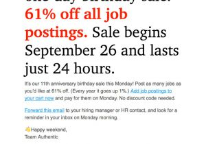 Discount Offer Email Template What 39 S the Best Email Template Height Mailbakery