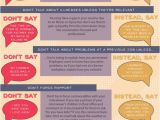 Discuss Your Resume Job Interview 7 Things Not to Say During A Job Interview Infographic