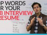 Discuss Your Resume Job Interview top Words for Your Job Interview Resume Engvid