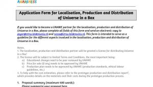 Distribution Proposal Template Universe In A Box Localisation Production and