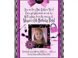 Diva Invitation Templates Diva Birthday Invitations Wording Ideas Bagvania Free