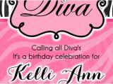 Diva Invitation Templates Diva Invitation Template 15 00 Www Facebook Com
