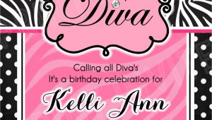 Diva Invitation Templates Diva Invitation Template 15 00 Www Facebook Com